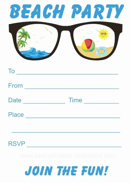 Beach Party Invitation Template New 25 Best Ideas About Beach Party Invitations On Pinterest