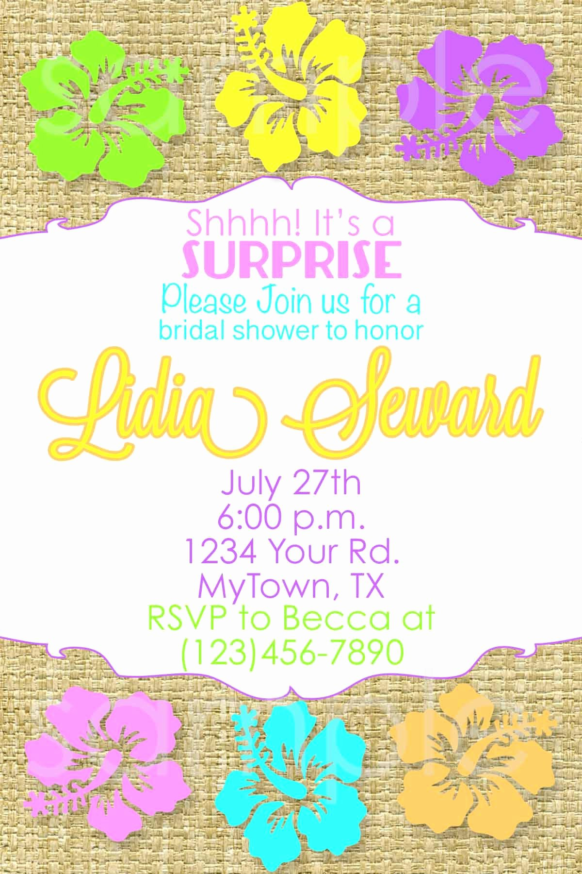 Beach Party Invitation Template New Bridal Shower Beach Bridal Shower Invitations Card