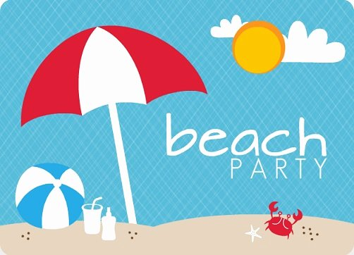 Beach Party Invitation Template New Sensational Summer Party Invitations by Purpletrail