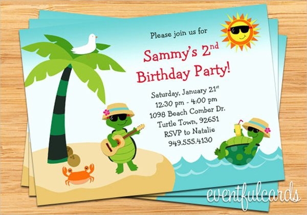Beach Party Invitation Template Unique 12 Beach Party Invitations Psd Ai Word Pages