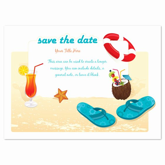 Beach Party Invitation Template Unique Beach Party Save the Date Invitations & Cards On Pingg