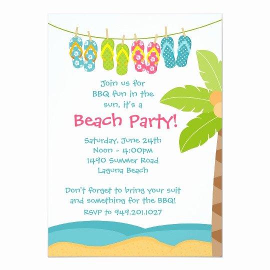 Beach Party Invitation Template Unique Summer Beach Party Invitation
