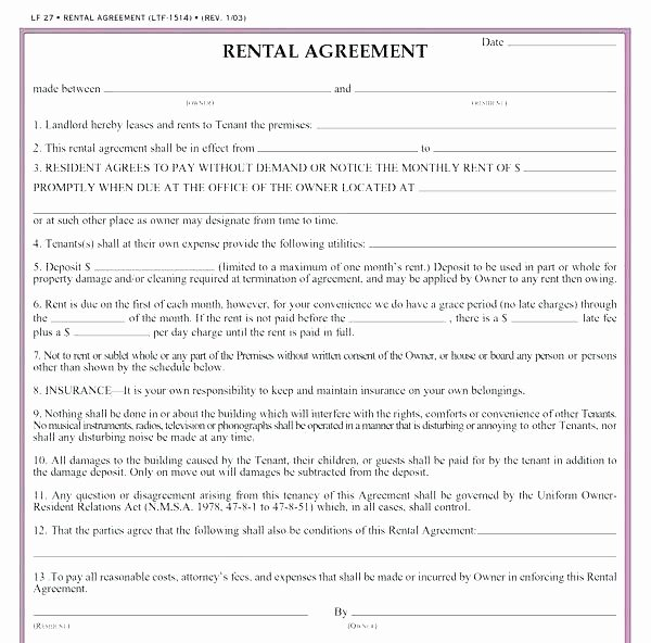 Beat Lease Contract Template Awesome Sample Rental Agreement Word format House Rent Letter New