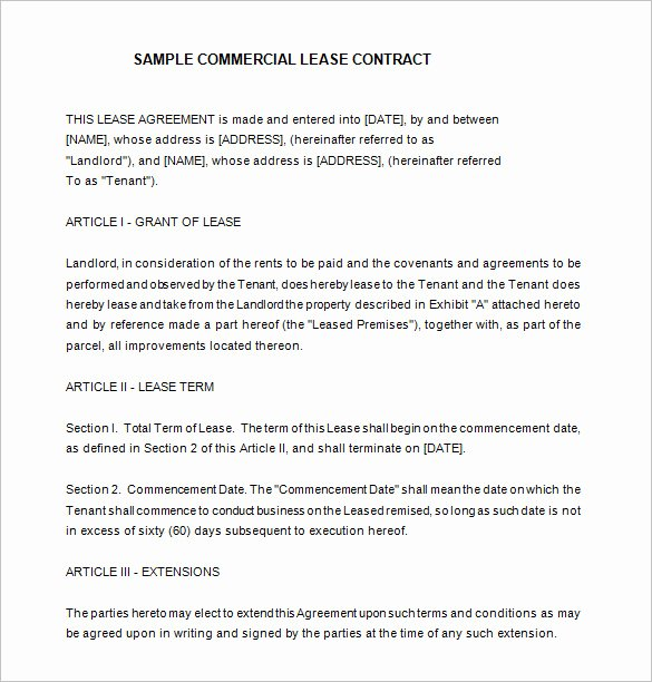 Beat Lease Contract Template Best Of 9 Lease Contract Templates – Free Word Pdf Documents