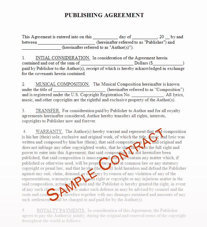 Beat Lease Contract Template Elegant Free Music Contracts Protect Your Brand