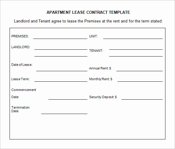 Beat Lease Contract Template Inspirational 9 Lease Contract Templates – Free Word Pdf Documents