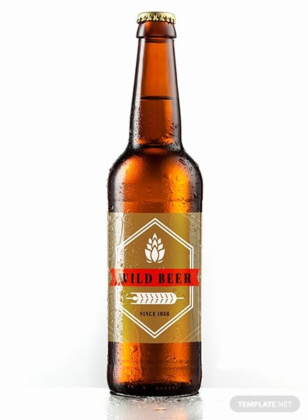 Beer Can Label Template Elegant Free Sample Beer Label Template In Psd Ms Word Publisher