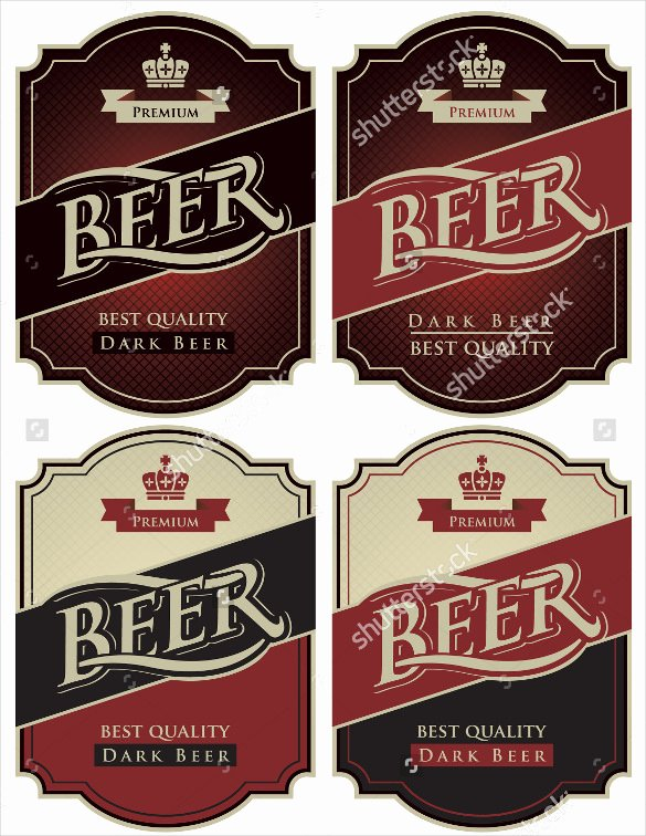 Beer Can Label Template Fresh 29 Beer Label Templates – Free Sample Example format