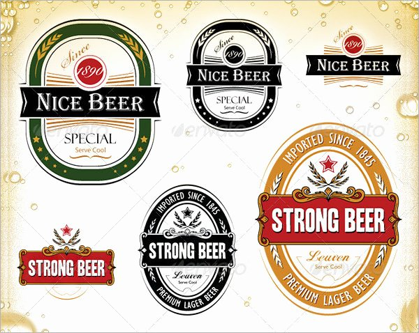 Beer Can Label Template Fresh 6 Sample Beer Label Templates to Download