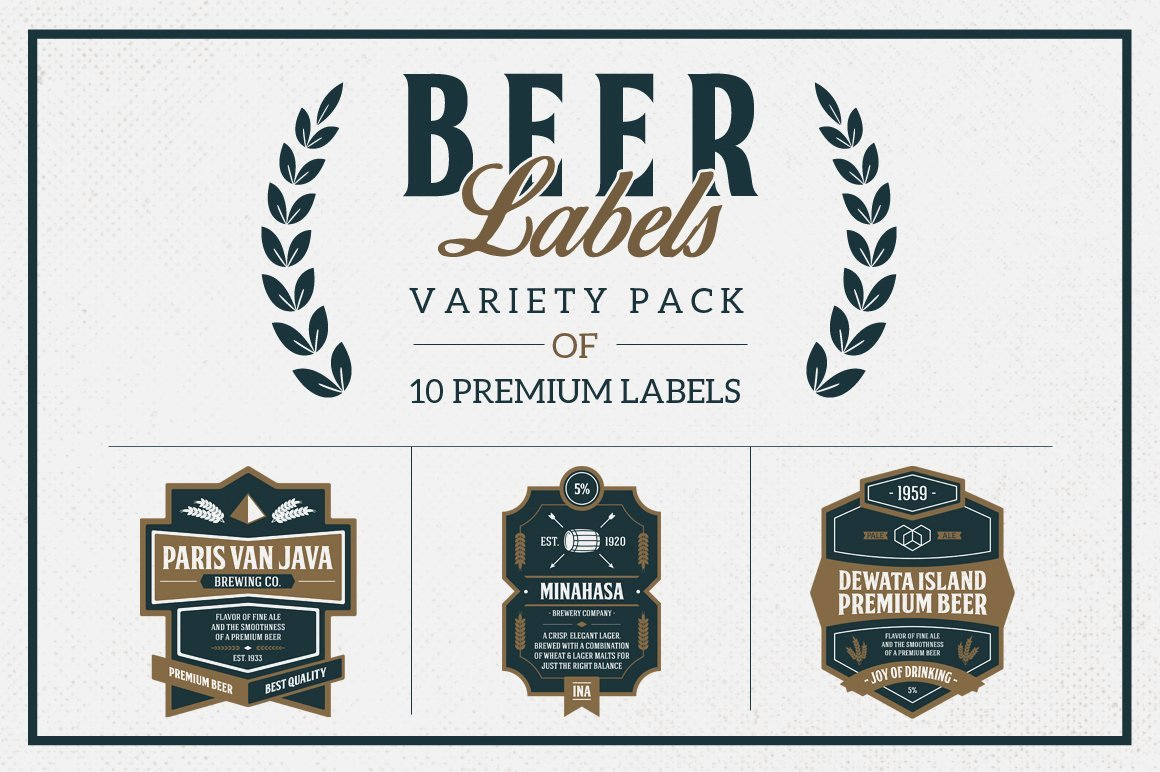 Beer Can Label Template Lovely Premium Beer Labels Logo Templates Creative Market