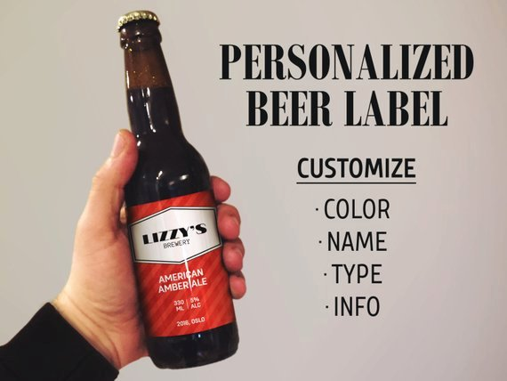Beer Can Label Template New Custom Beer Labels Beer Label Template Personalized Beer