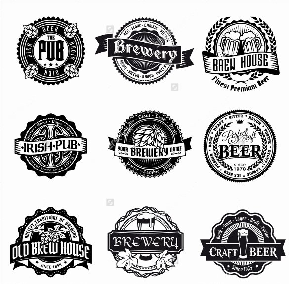 Beer Can Label Template Unique Beer Label Template 27 Free Eps Psd Ai Illustrator
