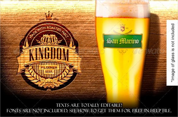 Beer Label Template Free Awesome 29 Beer Label Templates – Free Sample Example format
