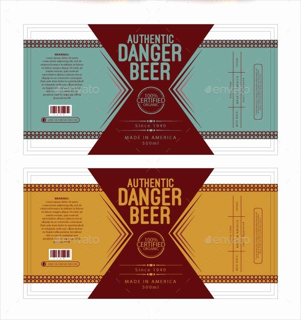 Beer Label Template Free Elegant Beer Label Template