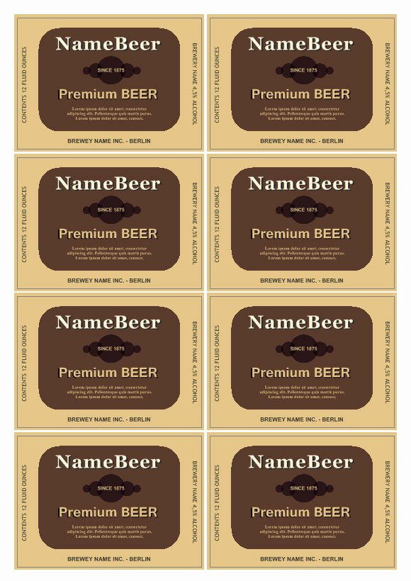 Beer Label Template Free Fresh Beer Label Template