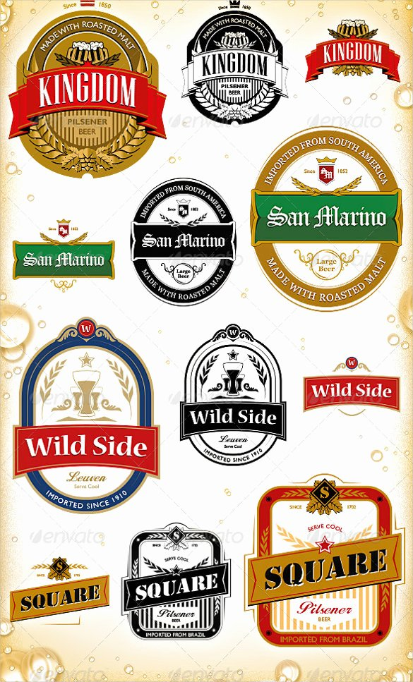 Beer Label Template Free Inspirational Beer Label Template 27 Free Eps Psd Ai Illustrator