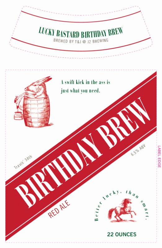 Beer Label Template Free Lovely Make Your Own Birthday Beer Label Template Grogtag