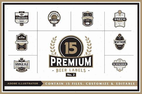 Beer Label Template Word Best Of Premium Beer Labels No 2 Logo Templates Creative Market