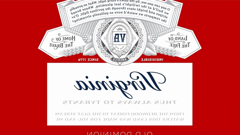 Beer Label Template Word Elegant Budweiser Eps format Vector