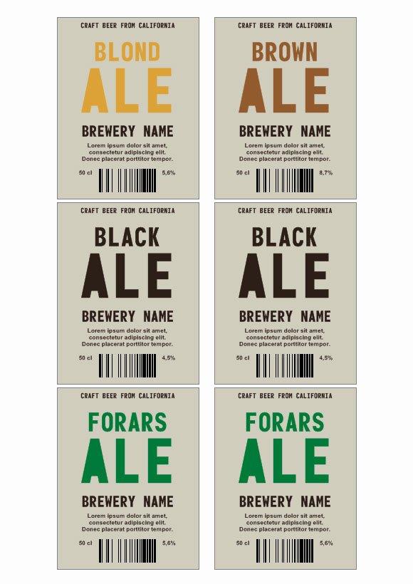 Beer Label Template Word Fresh Beer Label Template