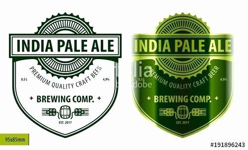Beer Label Template Word Unique Craft Beer Label Template
