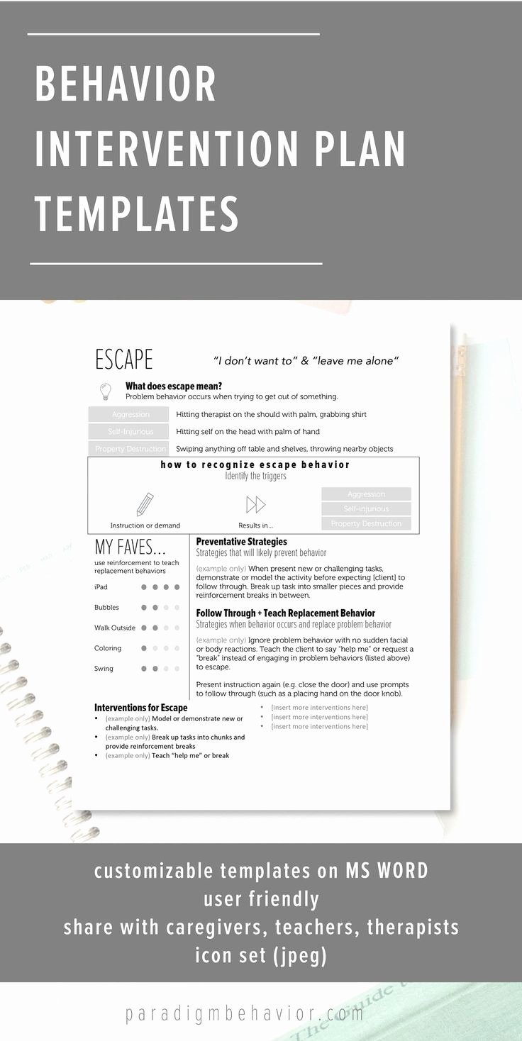 Behavior Modification Plan Template New 1000 Images About Behavior Interventions School