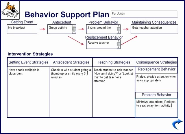 Behavior Support Plan Template Best Of 10 Behaviour Management Plan Examples Pdf