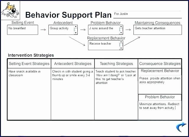 Behavior Support Plan Template Best Of Technical Support Plan Template Maintenance Support Plan