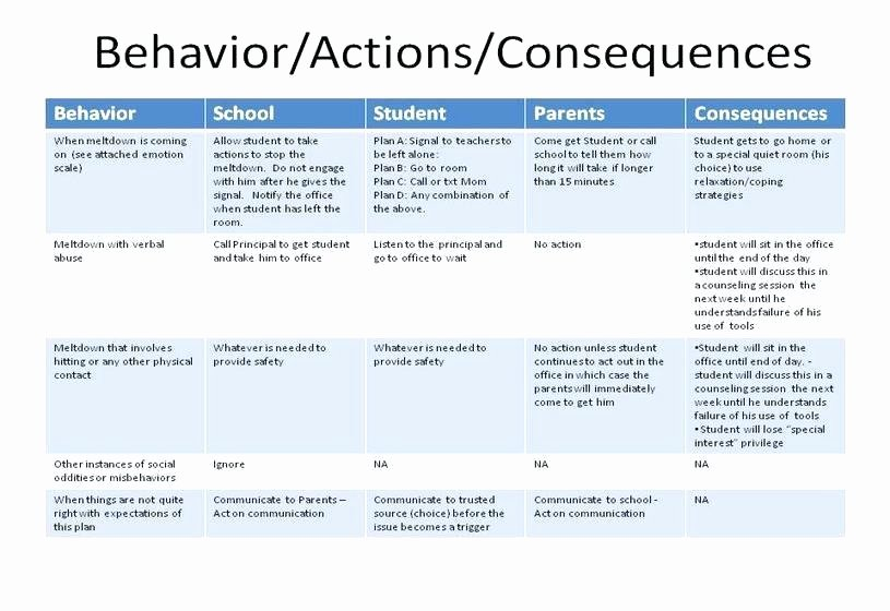 Behavior Support Plan Template Inspirational School Counseling Lesson Plan Template Design Free