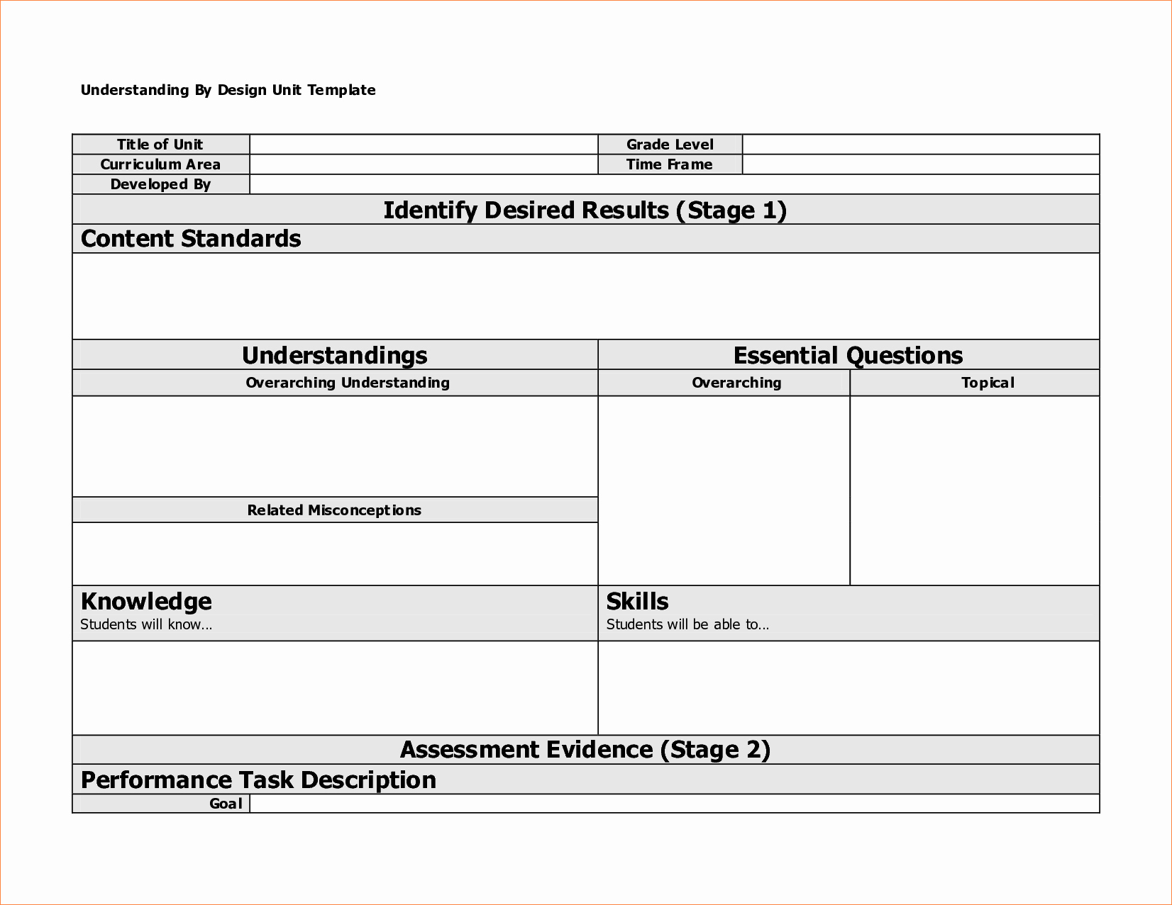 Best Lesson Plan Template Best Of Pretty Understanding by Design Lesson Plan Template