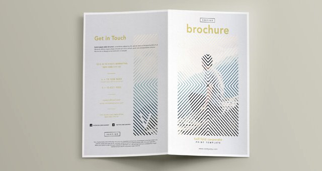 Bi Fold Brochure Template Awesome Vertigo Bi Fold Brochure Template