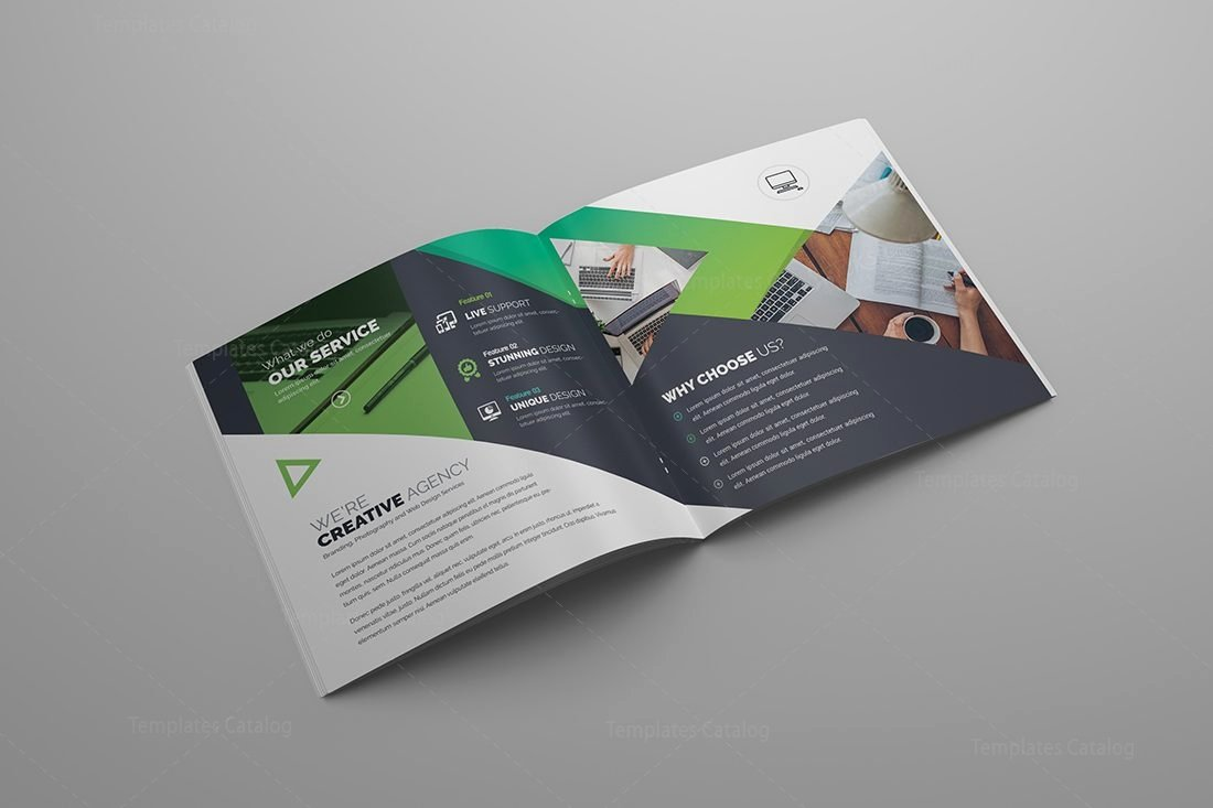 Bi Fold Brochure Template Fresh Gemini Premium Square Bi Fold Brochure Template