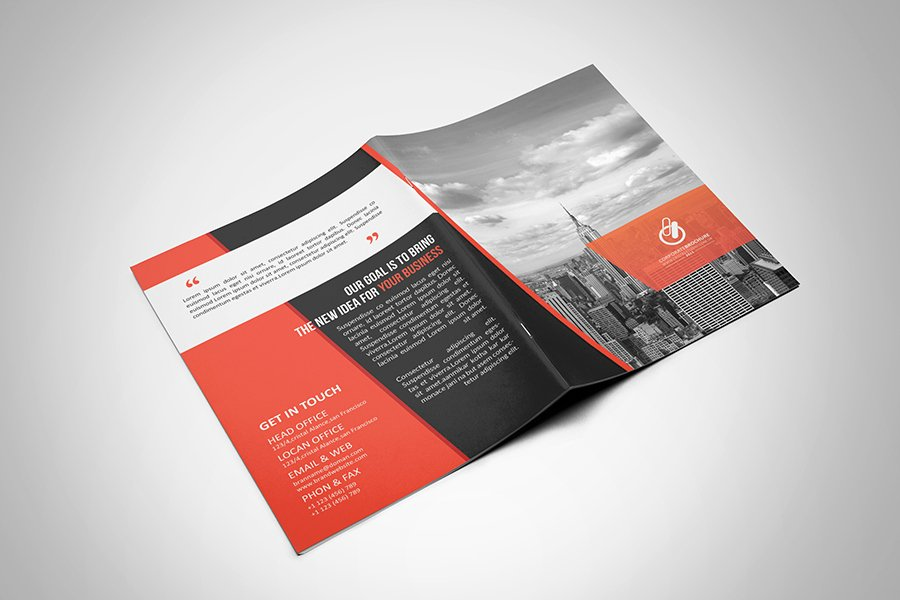 Bi Fold Brochure Template New Bi Fold & Tri Fold Brochure Template On Behance