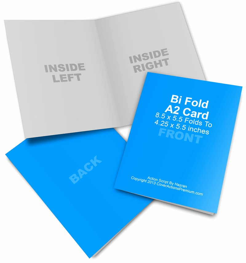 Bi Fold Card Template Elegant A2 Bi Fold Card Mockup Cover Actions Premium