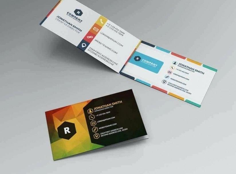 Bi Fold Card Template Fresh Bi Fold Business Card Template