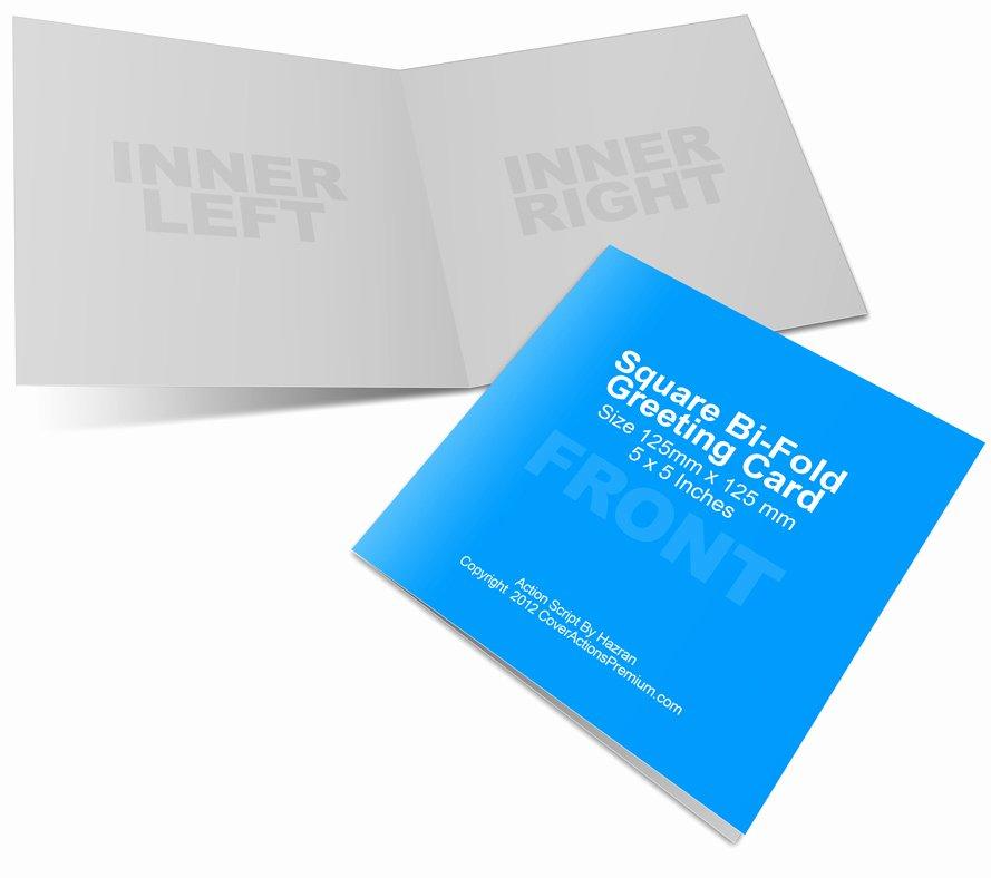 Bi Fold Card Template Fresh Square Bi Fold Greeting Card Mockup