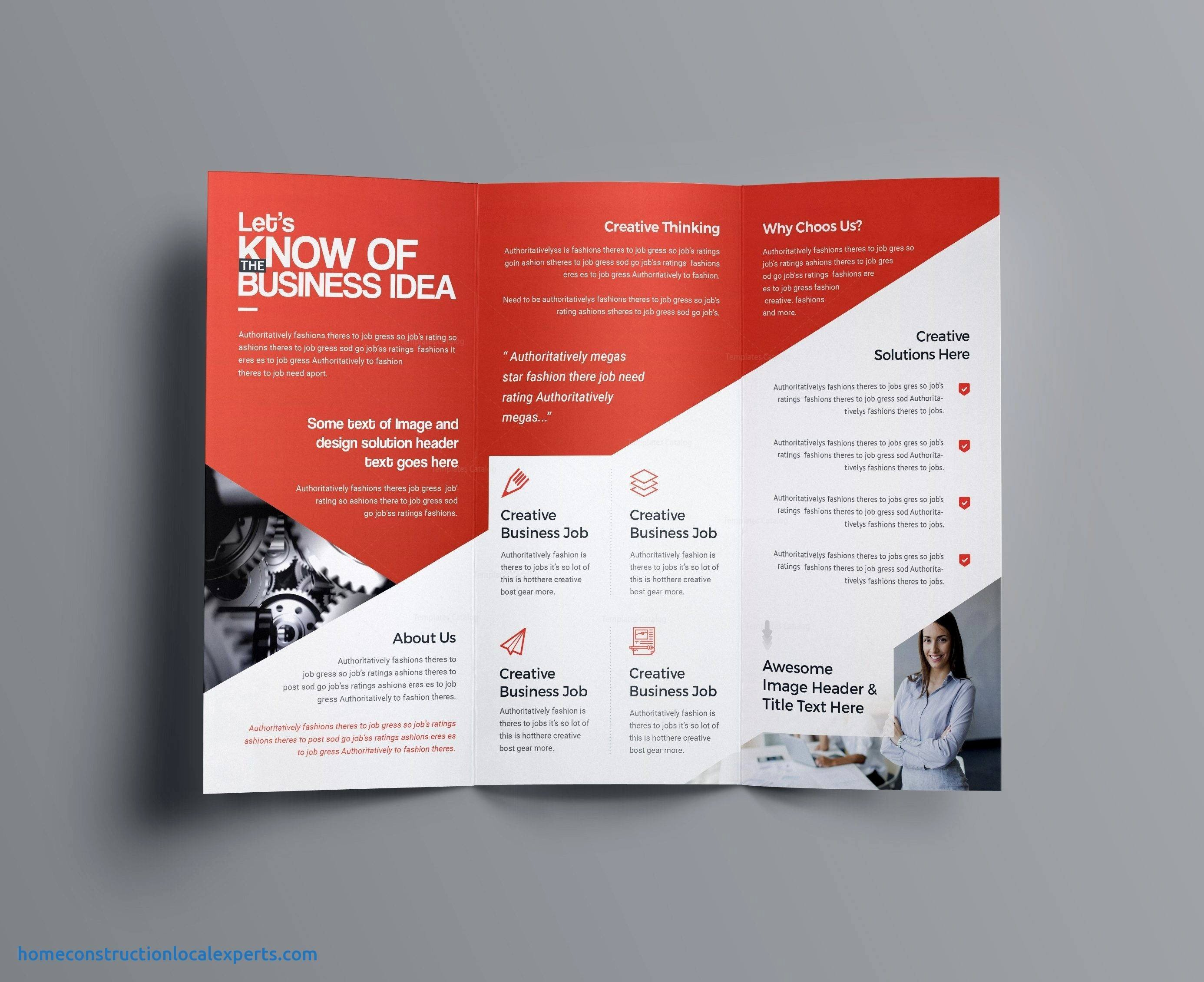 Bi Fold Card Template Lovely Awesome Gallery Bi Fold Business Card Template In 2021