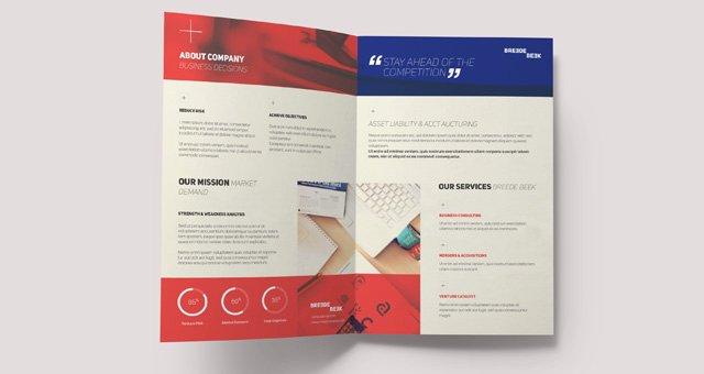 Bi Fold Card Template Lovely Breede Bi Fold Brochure Template