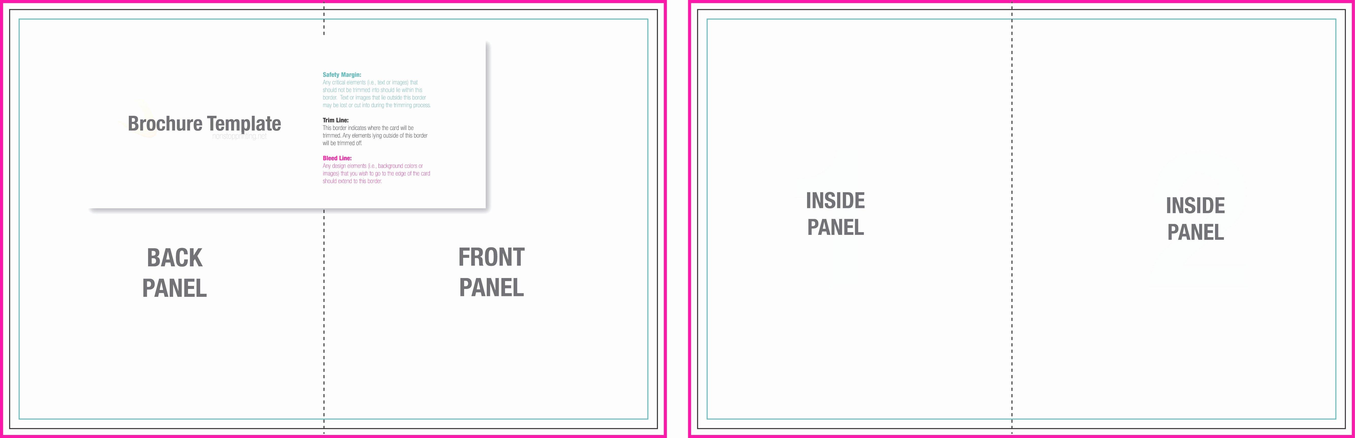 Bi Fold Card Template New Bi Fold Brochure Template Word Mughals