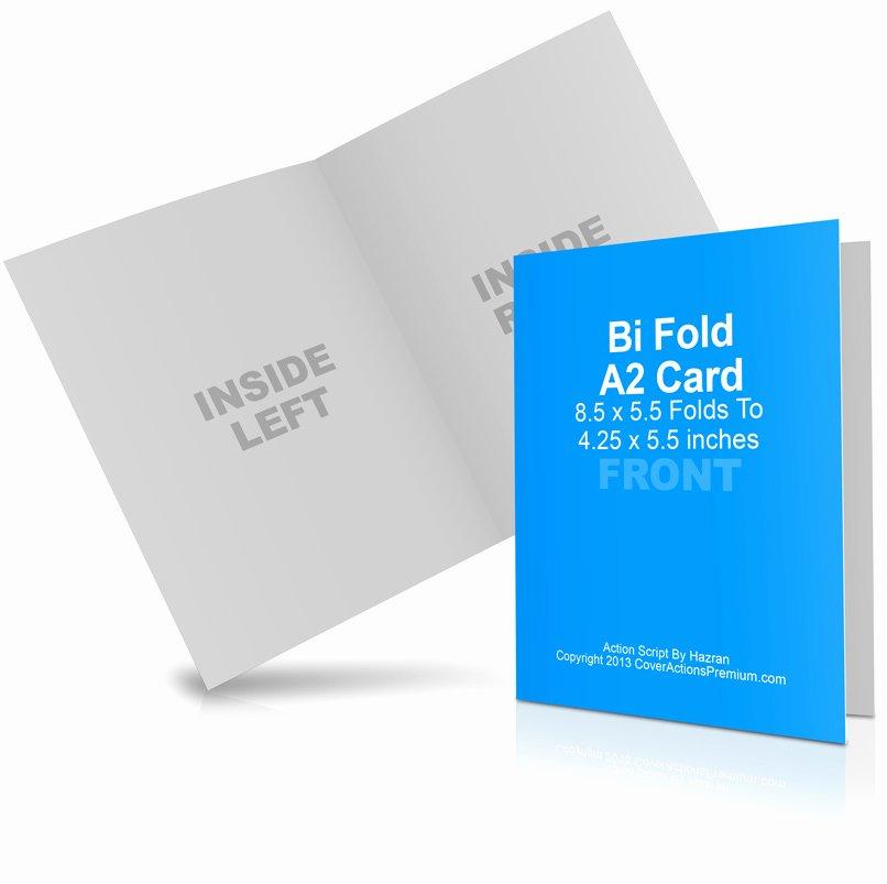 Bi Fold Card Template Unique A2 Bi Fold Card Mockup Cover Actions Premium