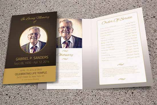 Bi Fold Program Template Beautiful Funeral Program Template 30 Download Free Documents In