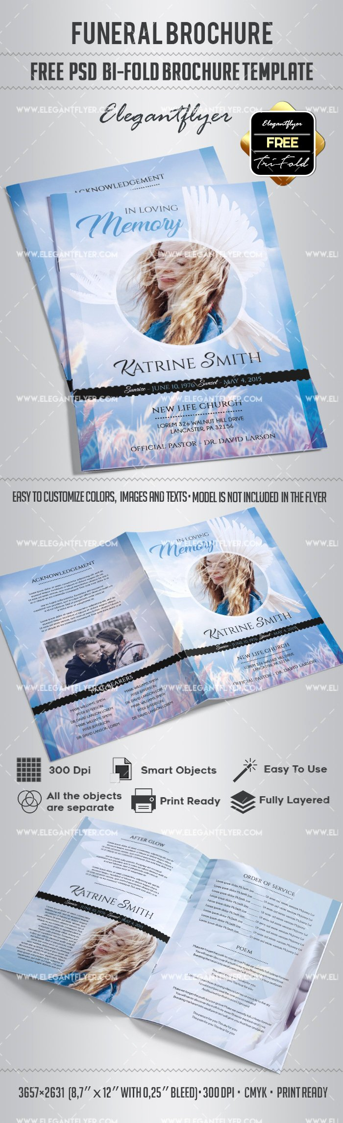 Bi Fold Program Template Inspirational Free Funeral Bi Fold Brochure – by Elegantflyer