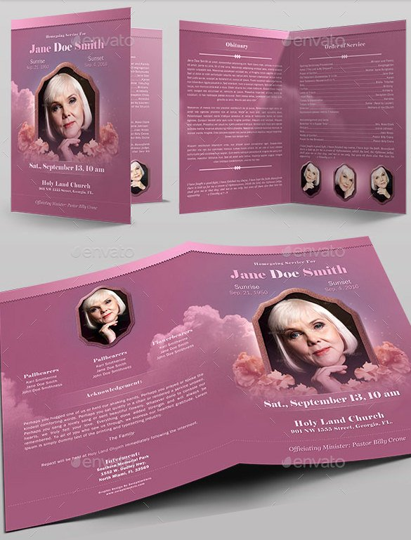 Bi Fold Program Template Inspirational Funeral Obituary Template 25 Free Word Excel Pdf Psd