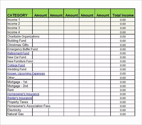 Bi Weekly Budget Template Awesome 7 Bi Weekly Bud Template