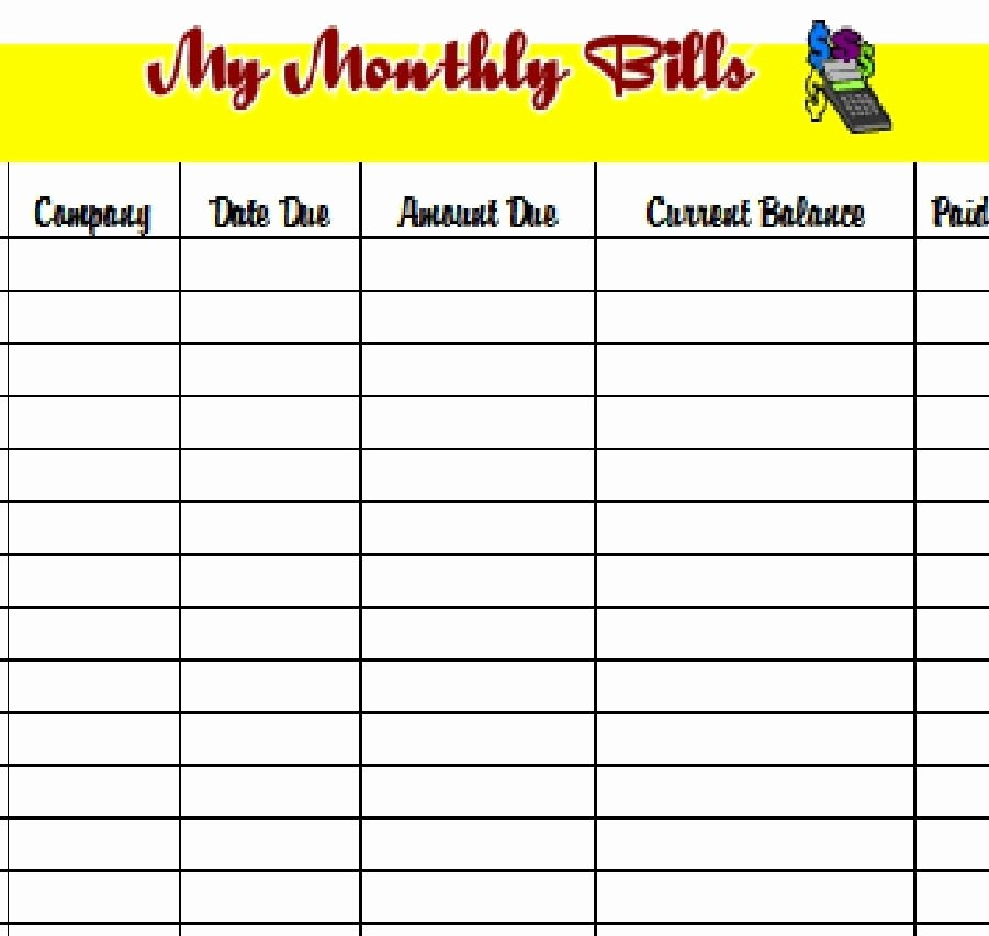 Bill Pay Calendar Template Awesome Download the Pdf Template and Keep Track Of Your Monthly