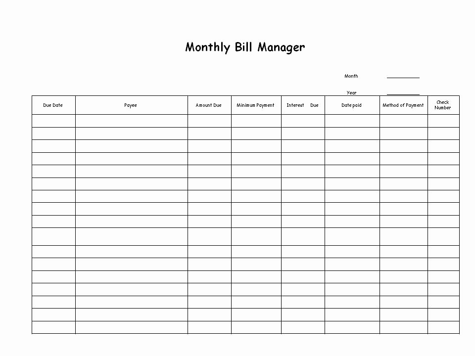 Bill Paying Calendar Template Unique Bill Paying Archives Ellen S Blog Professional