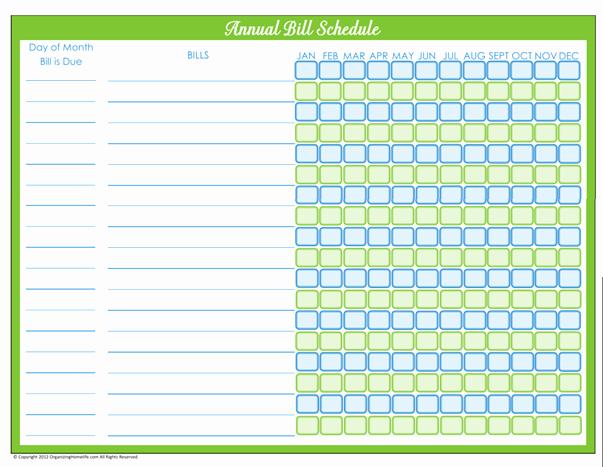 Bill Payment Calendar Template Elegant Bill Payment Schedule Editable Version organizing Homelife