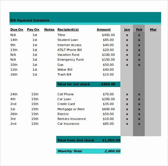 Bill Payment Calendar Template Fresh 21 Monthly Work Schedule Templates Pdf Doc