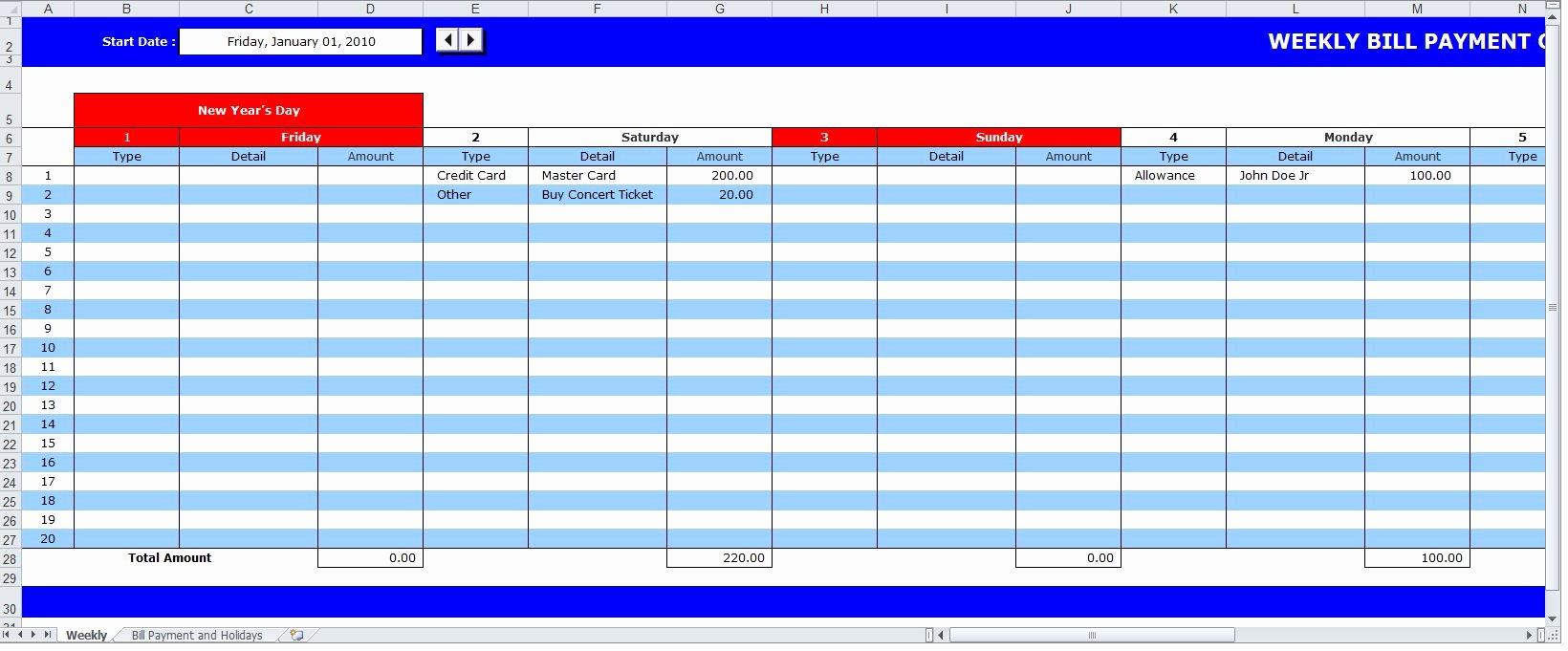 Bill Payment Calendar Template Fresh Bill Payment Schedule