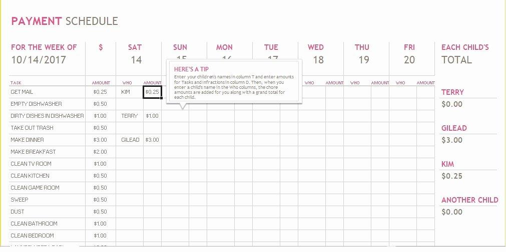 Bill Payment Calendar Template Inspirational 5 Bill Payment Schedule Template Pdf & Word Excel Tmp